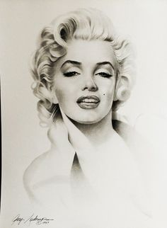 Marilyn Monroe by Gary Saderup Marilyn Monroe Tattoo, Marilyn Monroe Dibujo, Marilyn Monroe Drawing, Marilyn Monroe Fotos, Marilyn Monroe Artwork, Marilyn Monroe Portrait, Hollywood Glamour, Hollywood Actresses, Old Hollywood