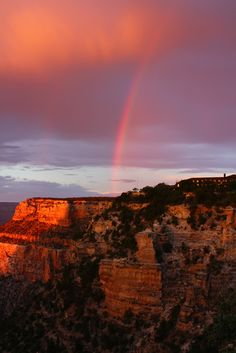 desert rainbow, Grand Canyon, Arizona