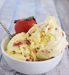 Strawberry Sour Cream Ice Cream Recipe