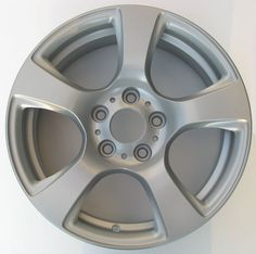 Metallic Silver Powder Coated Rims - http://www.powderkegcoatings.com