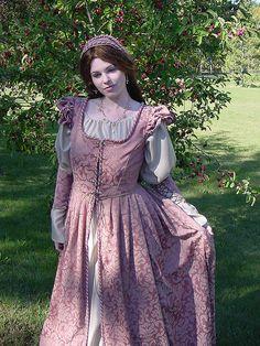 Mauve Renaissance Gown 060 by MattiOnline, via Flickr