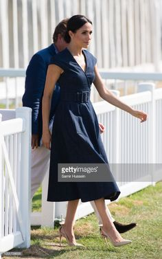 Meghan Duchess of Sussex attends the Sentebale Polo 2018 held at the Royal County of Berkshire Polo Club on July 26 2018 in Windsor England Estilo Meghan Markle, Meghan Markle Style, Sussex, Prinz Harry, Princess Meghan, Prince Harry And Megan, Royal Dresses, Windsor England, Princesa Diana