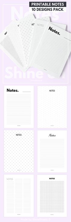 Printable student and work notes #shinesheets #printable #planner #bulletjournal #bujo #plannergirl #plannernerd #planneraddict