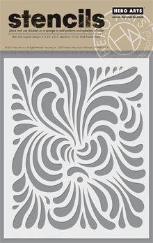 Swirl Stencil picture http://shop.heroarts.com/c/stencils