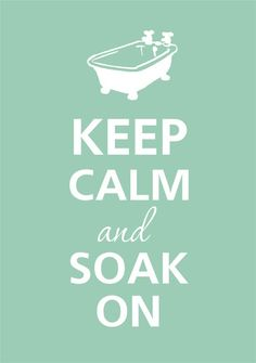 A hot bubble bath with Epsom salt is a great end to a day!