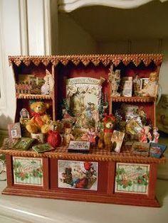 Resultado de imagen de miniatures christmas roomboxes
