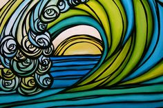 Heather Brown wave - surf art