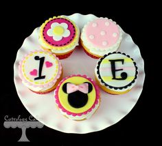 Baby Minnie cupcakes www.facebook.com/i.love.cuteology.cakes