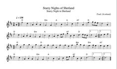 Starry Nights Of Shetland (Waltz) [WT1610] - Tune of the Day (@WTtuneoftheday) | Twitter