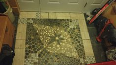 Tile project at the front door. All materials are from Habitates for Humanities Tile Projects, House Projects, Doors, Home Decor, Decoration Home, Room Decor, Home Interior Design, Home Decoration, Projects