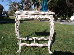 Antique Shabby Chic Farmhouse Side Accent Table - Painted, Distressed $55