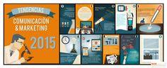 Tendencias en comunicación y marketing 2015 #infografía
