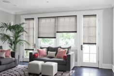 Dining room windows & slider wall window Roller #Shades
