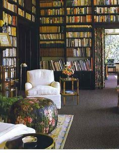 Home library, every house should have a room lined with bookshelves ❤️📚. Beautiful Library, Dream Library, Future Library, Library In Home, Grand Library, Reading Library, Home Libraries, Book Nooks, Reading Nooks