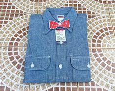 Vintage BIG MAC Chambray shirt Sz.14.5 Deadstock | Etsy Big Mac, Chapeau Pork Pie, Chambray, Vest, Vintage, Denim, Jackets, Shirts, Fashion