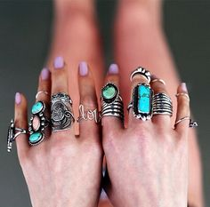 Boho rings. For more follow www.pinterest.com/ninayay and stay positively #pinspired #pinspire @ninayay