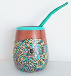 Fun Diy Crafts, Flower Pots, Flowers, Cute Gifts, Paint Colors, Decoupage, Mandala, Pottery, Painted Light Bulbs
