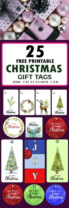 Get 25 printable gift tags for free printing! Christmas Tag Templates, Free Printable Christmas Gift Tags, Christmas Envelopes, Printable Day Planner, Minimalist Christmas, Advent, Free Printables, Diy Christmas, Free Calendars