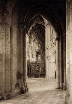 Frederick Evans (1853-1943) 'Ely Cathedral' England About 1900 Photogravure Museum no. 569-1900