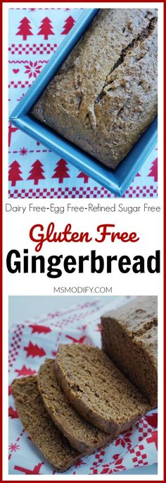 This Gingerbread loaf is moist and perfectly spiced all while being gluten free, dairy free, egg free and refined sugar-free!