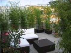 Sichtschutz Bambus Balkon