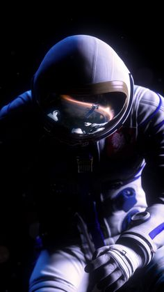 """The astronaut. From """"The Missed Spaceflight"""" VR Experience for Samsung by MELT."""
