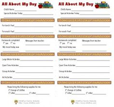 Daily Sign In Sheet  Daycare Forms    Childcare