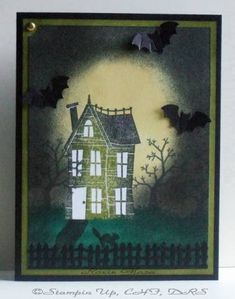 Haunted Night with Bats by Rox71 - Cards and Paper Crafts at Splitcoaststampers