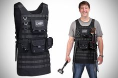 Tactical BBQ Apron- Best gear and gadgets for men. The place to find cool stuff for guys.