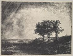 Rembrandt, The Three Trees, etching with drypoint and engraving, 1643.