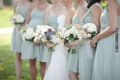 bridesmaids in pale green   CHECK OUT MORE IDEAS AT WEDDINGPINS.NET   #weddings #bridesmaids #bridal #dresses #fashion #forweddings