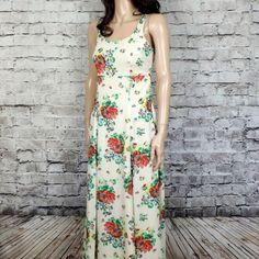 90s Vintage Spring Floral Dress1990s Esprit Soft by poetryforjane, $22.00