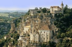 Rocamadour, in the Languedoc-Roussillon-Medi-Pyrenees; 5 officially best places to visit in France : The Good Life France