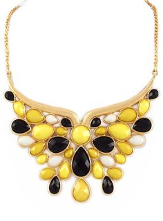 Black & Yellow Butterfly Necklace