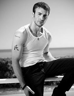 "Chris Evans... the best looking ""Captain"" ever!"