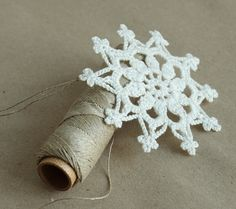 Crocheted snowflake  ready to ship  by Tihtuu by Tihtuu on Etsy, €10.65