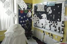 North Pole Display, classroom display, class display, Places, geography, polar bear, ice, cold, freezing, Early Years (EYFS), KS1 & KS2 Primary Resources