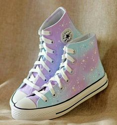 Galaxy harajuku canvas shoes sold by Sanrense. Shop more products from Sanrense on Storenvy, the home of independent small businesses all over the world. Kawaii Shoes, Kawaii Clothes, Converse All Star, Converse Shoes, Converse Style, Cute Sneakers, Shoes Sneakers, Galaxy Shoes, Galaxy Converse