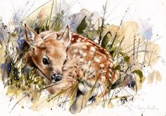 "Saatchi Online Artist: Lucy Newton; Other, Mixed Media ""Fawn"""