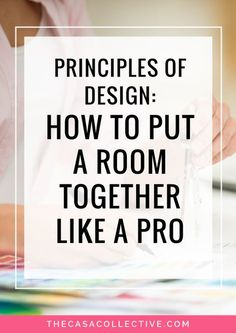 These basic principles of design will help you to decorate your home like a pro…. These basic principles of design will help you to decorate your home like a pro. Find out how designers put it all together to create those fabulous spaces.
