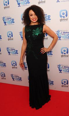 Capital FM's Pandora working the red carpet in her Bernshaw dress at Global's Make Some Noise Charity Night Capital Fm, Charity, Red Carpet, Peplum Dress, Pandora, How To Make, How To Wear, Night, Celebrities