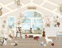 Little Hands Wallpaper Mural - Playroom