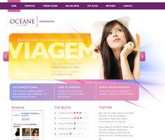 Océane Femme;  Em parceria com outra agência foi criado o projeto Océane Femme uma grande empresa de ótimos produtos para estética , sendo construído um site com ampla integração com o usuário permitindo votações e melhores classificações.