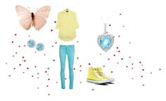 """""""Random outfit #2"""" by jaychelleofori ❤ liked on Polyvore featuring DKNY, J Brand, Converse, Kiki mcdonough and Reeds Jewelers"""