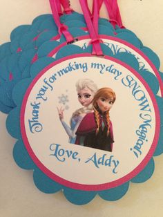 Frozen Birthday favor tags, frozen happy birthday, disney frozen birthday tags