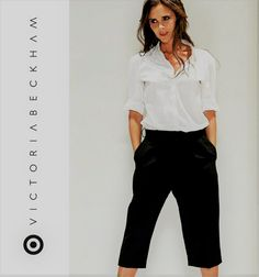 8e3c12a6885f59 Victoria Beckham for Target Womens Black Pleated Culotte NWT Size 6,8  #VictoriaBeckhamforTarget #
