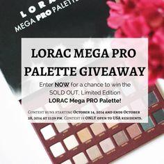 Lorac Mega Pro Palette Swatches, Review, & GIVEAWAY!