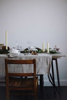 Vintage and Rustic festive table