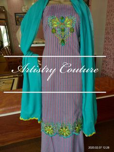 Embroidery Suits Punjabi, Embroidery Suits Design, Hand Embroidery, Machine Embroidery, Embroidery Designs, Neck Designs For Suits, Dress Neck Designs, Indian Party Wear, Indian Wedding Outfits