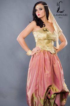 Algerian fashion: pink and cream karakou| Karakou algerois | Pinterest